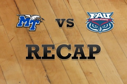 Middle Tenn State vs. Florida Atlantic: Recap and Stats