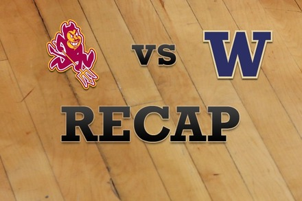 Arizona State vs. Washington: Recap and Stats