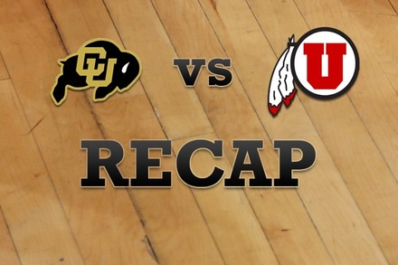 Colorado vs. Utah: Recap and Stats