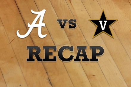 Alabama vs. Vanderbilt: Recap and Stats