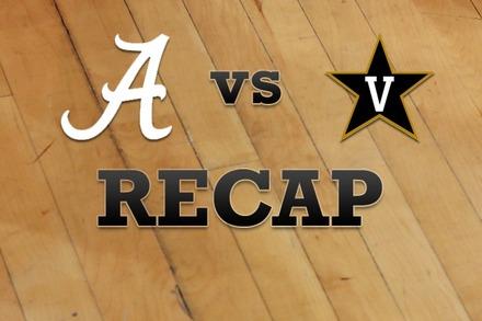 Alabama vs. Vanderbilt: Recap and Stats