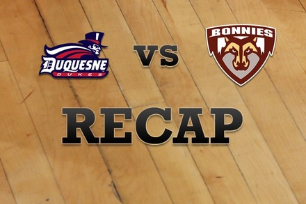 Duquesne vs. St. Bonaventure: Recap and Stats