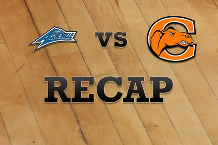UNC Asheville vs. Campbell: Recap and Stats