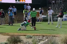 Padraig Harrington Kicks Field Goal at Phoenix Open