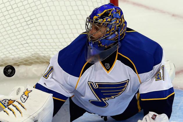 Blues Put Halak (groin) on IR, Will Miss at Least Two Games