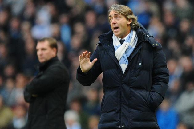 Manchester City Boss Roberto Mancini Insists Title Race Is Not over