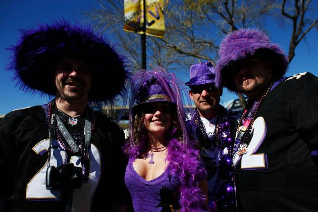 Ravens Fans Outnumber 49ers Fans at the Superdome