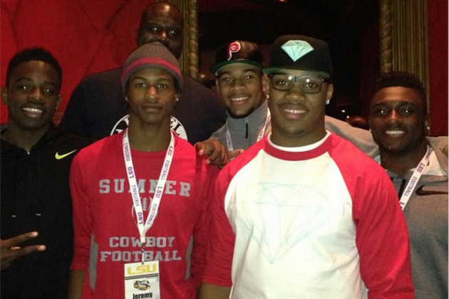 Robert Nkemdiche Hangs out with Shaq on Official Visit to LSU