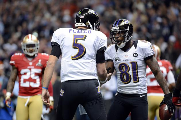 Joe Flacco Hits Anquan Boldin for 1st TD Pass of Super Bowl XLVII