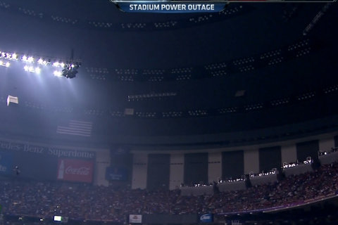 Super Bowl Power Outage Stops Ravens vs. 49ers in Third Quarter