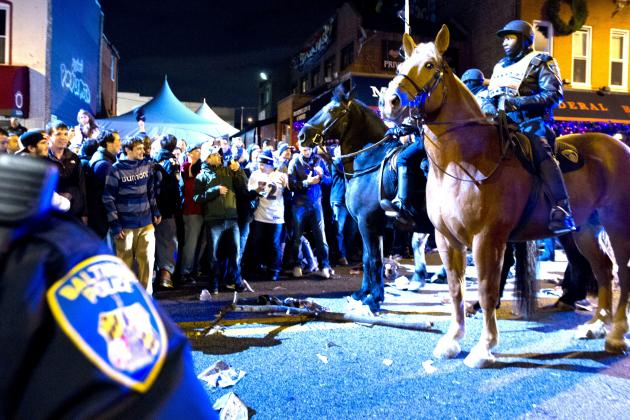 Super Bowl 2013: Baltimore Police Respond to Riots Following Ravens' Victory