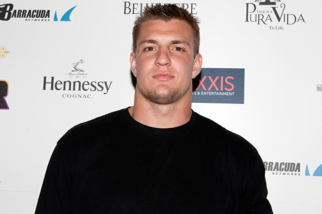 Rob Gronkowski Photographed Shirtless, Partying in New Orleans Bar