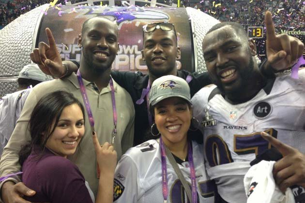 Jon Jones Celebrates Super Bowl Win with Brother and Ravens Defensive End Arthur