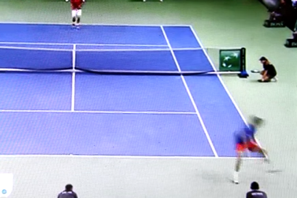 Lukas Rosol Goes Between the Legs for a Winner in Davis Cup Match