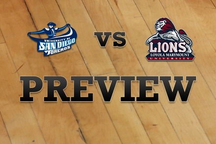 San Diego vs. Loyola Marymount: Full Game Preview