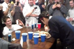 Kobayashi Downs Entire Pizza in 1 Minute at Super Bowl Party