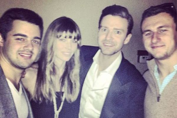 Johnny Manziel's Super Bowl Features Jessica Biel and Justin Timberlake