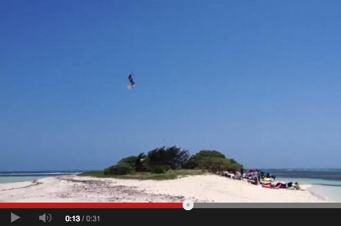Watch a Kitesurfer Bro Jump over an Entire Island