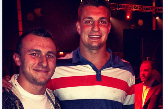 Johnny Football Meets Gronk