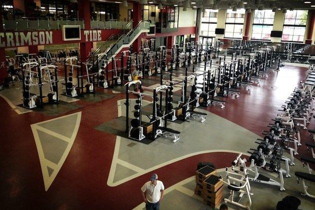 Alabama's New Weight Room Becomes Yet Another Recruiting Tool