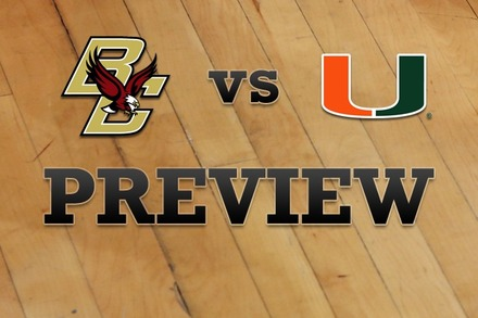 Boston College vs. Miami: Full Game Preview