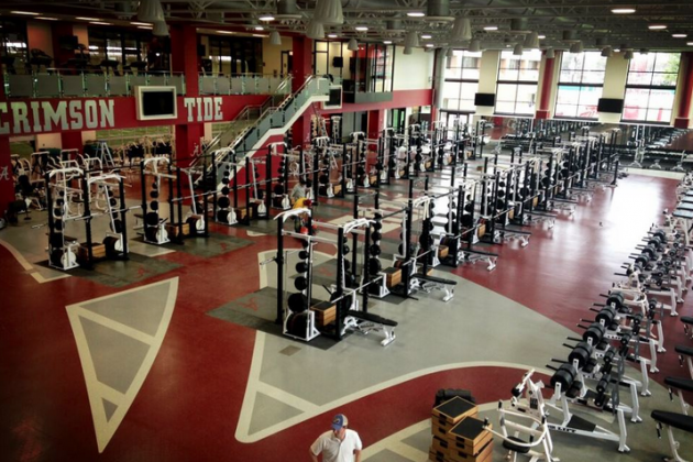 'Bama's New $9 Million Weight Room