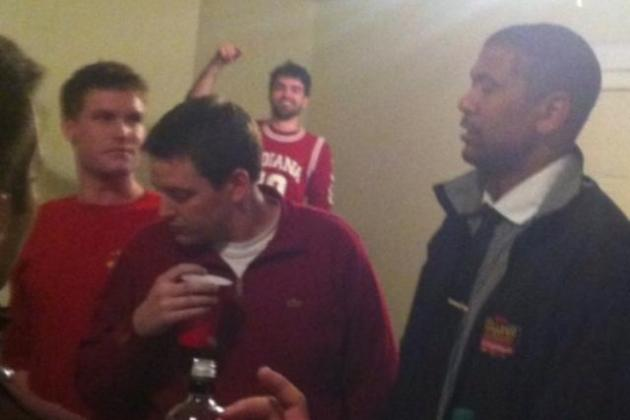 ESPN's Jalen Rose Parties in Bloomington with Indiana Students