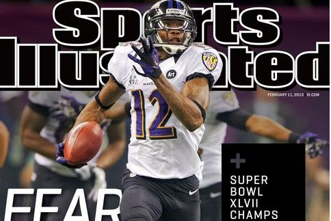 Baltimore Raven's Wide Receiver Jacoby Jones on the Cover