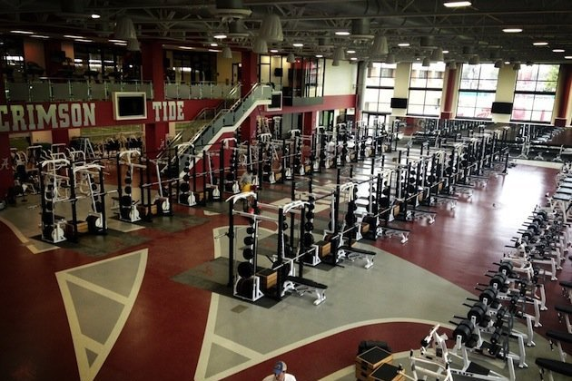 Alabamas New Multi Million Dollar Weight Room Is A Fantastic Recruiting Draw
