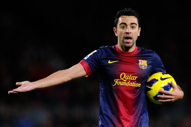Barcelona's Xavi a Doubt for AC Milan Clash