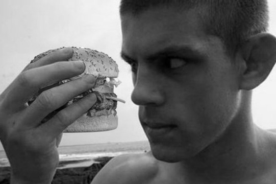 Joe Lauzon, Competitive Eater? UFC Lightweight Completes
