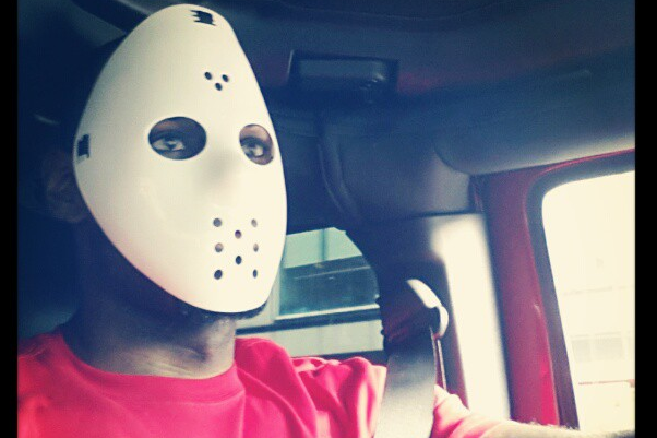 Instagram: LeBron Riding Around in Jason Mask