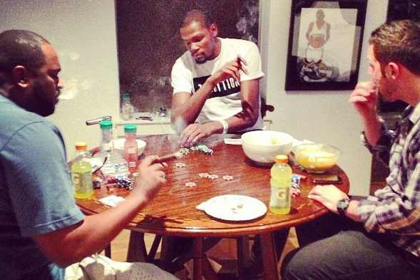 Instagram: KD Plays Poker, Burns Cigars