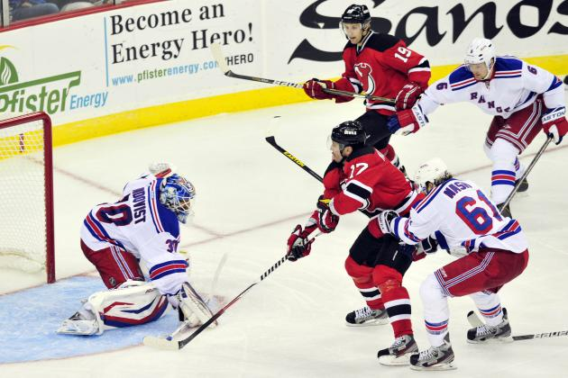 Clarkson Scores Twice as Devils Beat Rangers