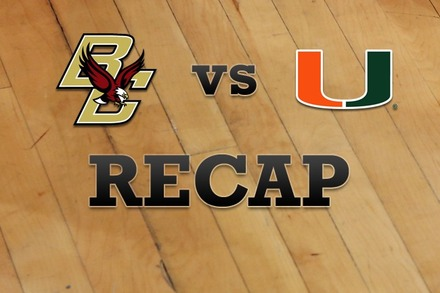 Boston College vs. Miami: Recap and Stats