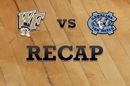 Wake Forest vs. North Carolina: Recap and Stats