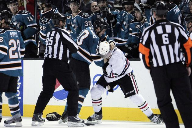 Andrew Desjardins Gets Match Penalty on Legal Hit