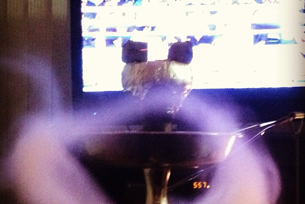 Instagram: Ronda 'Smoking Hookah, Watching Boxing'