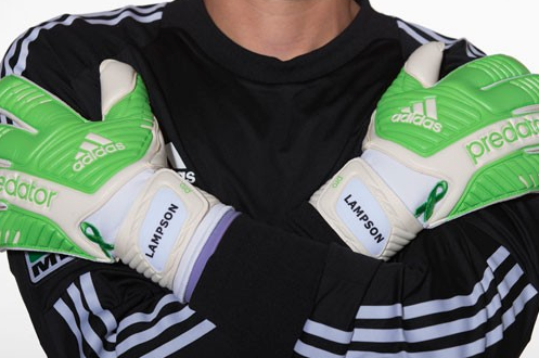 Lampson to Sport Custom-Made Gloves for Lymphoma Awareness in 2013