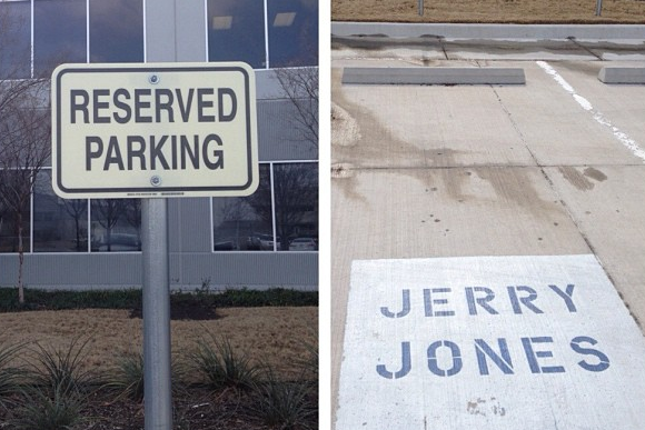 Instagram: Ware Steals Jerry Jones' Parking Spot