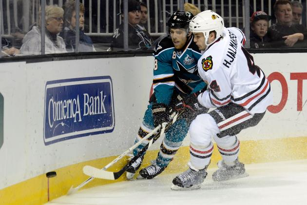 Botched Call Helps Blackhawks Top Sharks