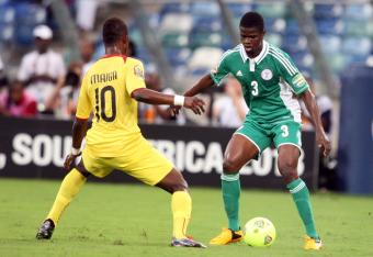 Elderson Echiejile opened the scoring for Nigeria.
