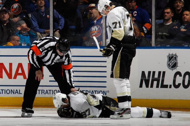 Video: Isles Fans Cheer Crosby Getting Hit in Face with Puck