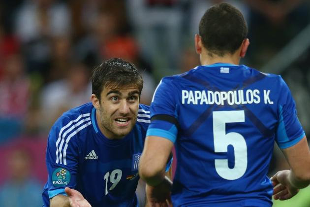 Soccer-Sokratis Shines as Greece Draw with Swiss