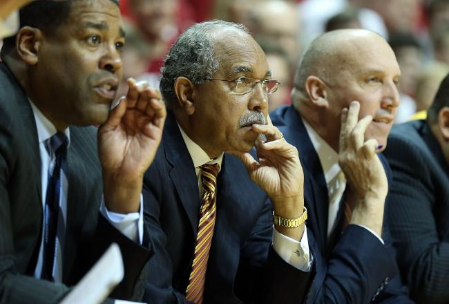 Gophers coach Tubby Smith (middle) should be proud of his team's effort versus MSU