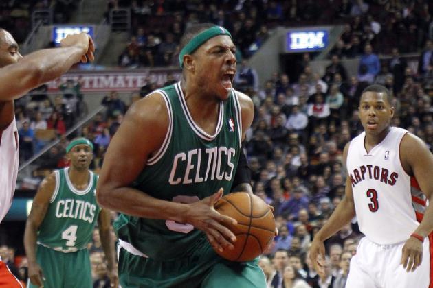Garnett Powers Celtics Past Raptors 99-95 for Fifth Straight Win