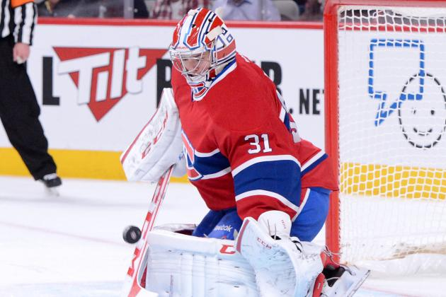 Watch Carey Price Take a Puck to the Groin During Warmups