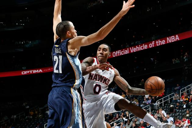 Teague, Smith Lead Hawks Past the Grizzlies