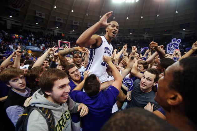 TCU shocks No. 5 Kansas for first win in Big 12