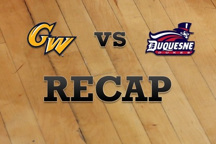 George Washington vs. Duquesne: Recap and Stats